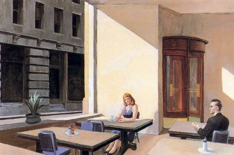 Sunlight in a Cafeteria, 1958, Edward Hopper